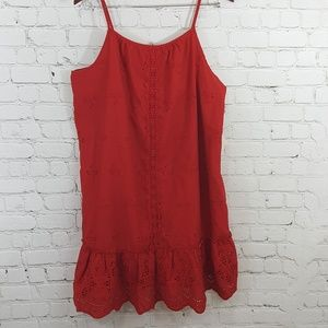 NWT Knox Rose red eyelet tunic/mini dress